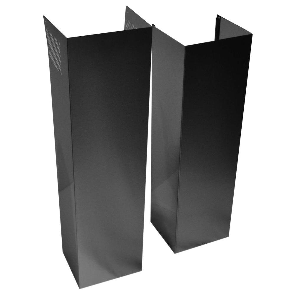 Wall Hood Chimney Extension Kit In Black Stainless Extkit14es The Home Depot Whirlpool Range Hood Stainless Range Hood Steel Wall