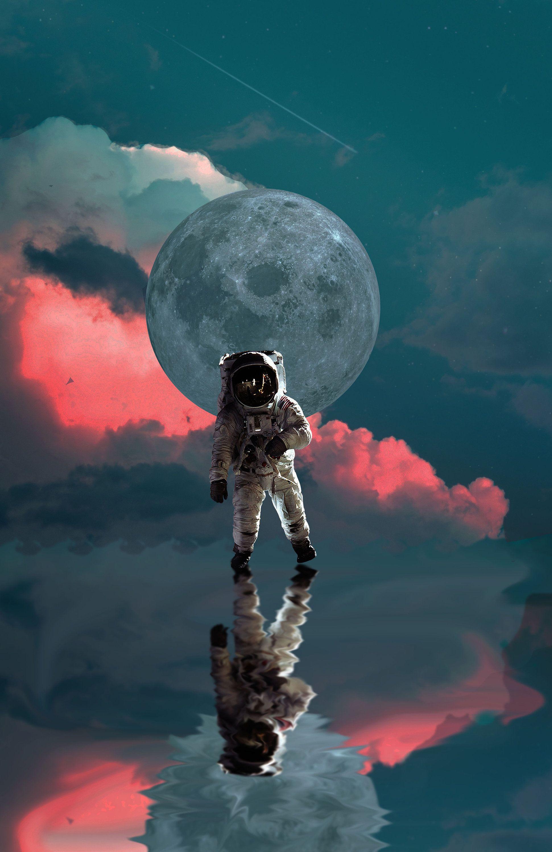 Astronaut wall art astronomy poster artwork