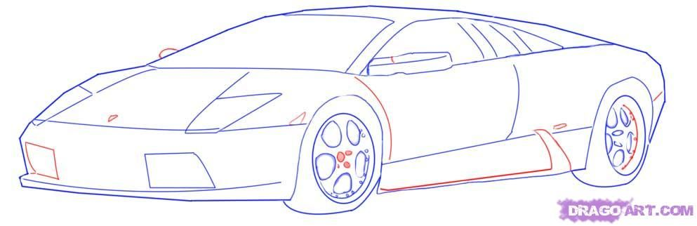 race car drawing simple picture - Sport Cars Drawings