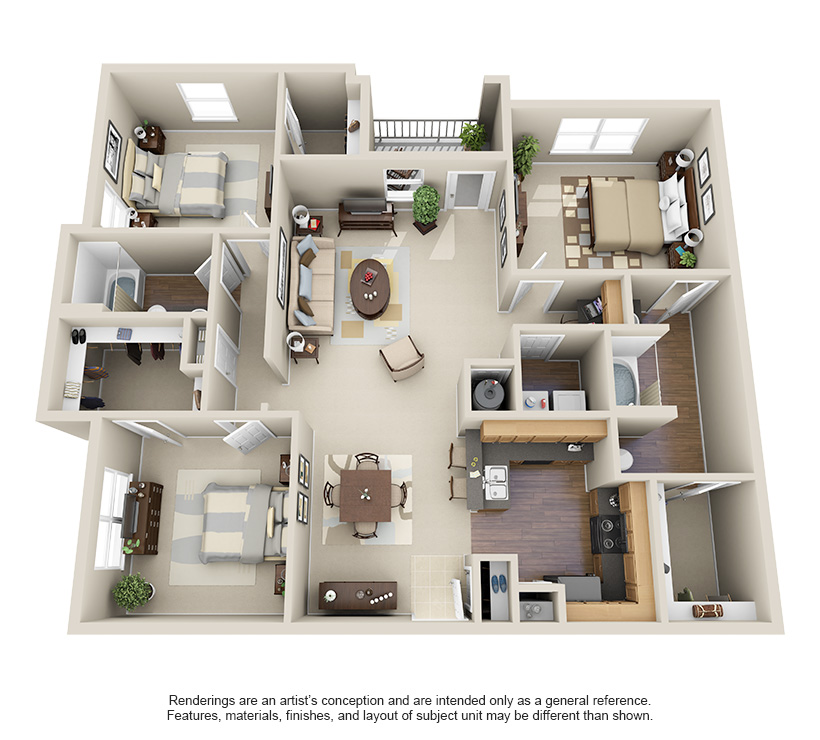 1, 2 And 3 Bedroom Apartments In Willowbrook Houston, TX
