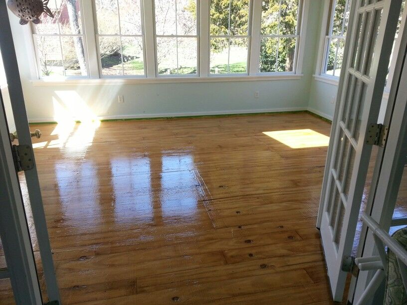 Sub Grade Plywood Porch Floor Painted To Look Like Hard Wood