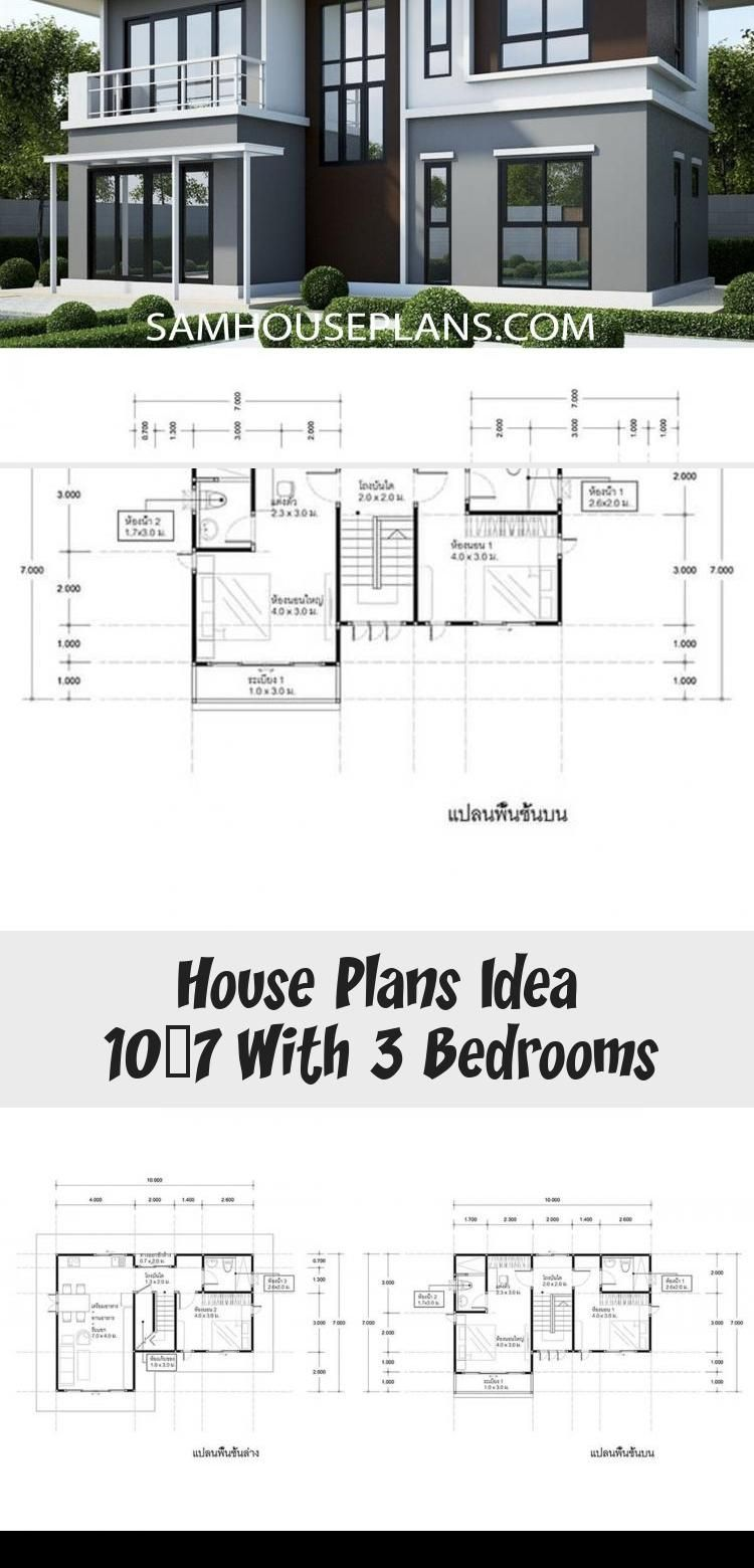 House Plans Idea 10x7 With 3 Bedrooms Sam House Plans Modernhouseplanswithgarage Modernhouseplansaustr In 2020 House Plans House Plans Australia Modern House Plans