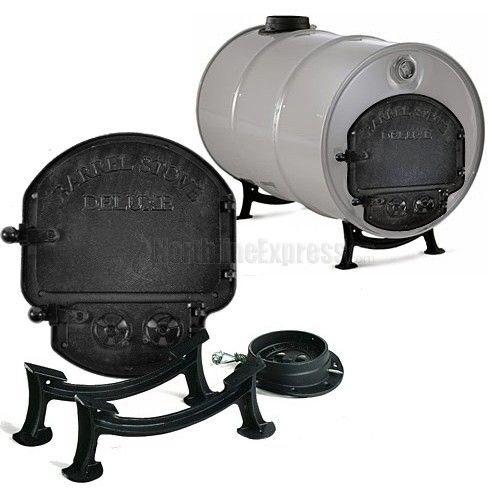 Wood Stove Kit WB Designs - Barrel Wood Stove Kit WB Designs