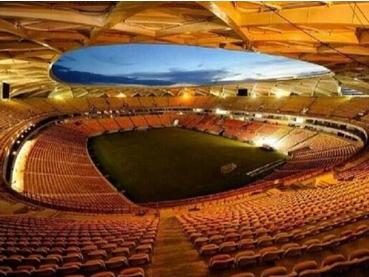 Brasil inaugura estadio de Manaos El domingo, las autoridades brasileras inauguraran el estadio Arena da Amazonia en Manaos. Es el noveno que está listo para los partidos de la Copa del Mundo. Hasta el momento tres todavía no están terminados, i