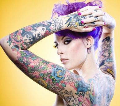 Punk Rock Sleeve Tattoos For Women Picture Tattoos Girl Tattoos
