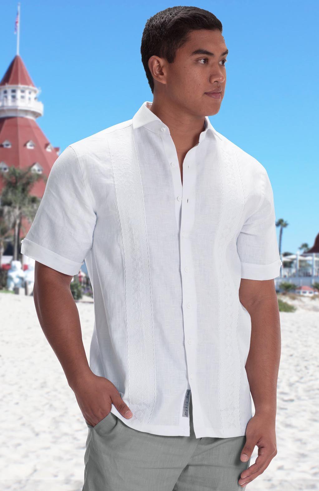 Butterfly Havana Italian Linen Mens Beach Shirts Wedding Tropics Mens Beach Wedding Attire Beach Wedding Shirts White Linen Shirt Men [ 1575 x 1023 Pixel ]
