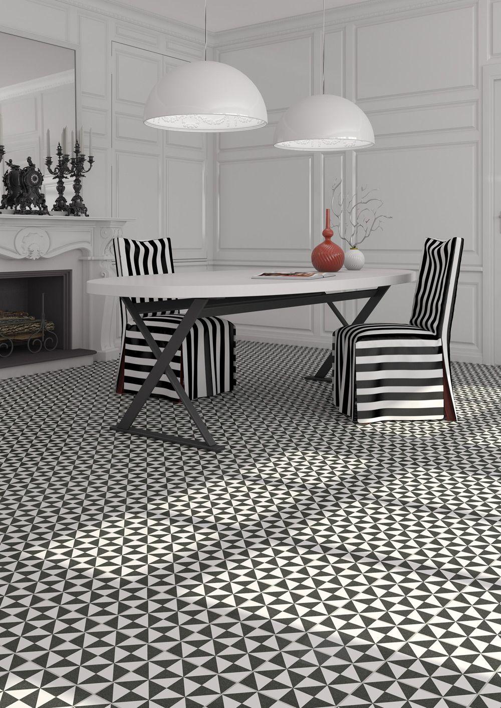 feature floor tile black&white | Feature Floor | Pinterest | Interiors