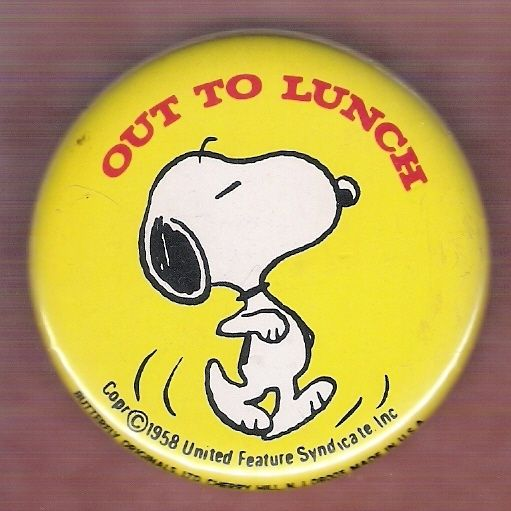 PEANUTS SNOOPY VINTAGE INSPIRED BUTTON PIN BADGE