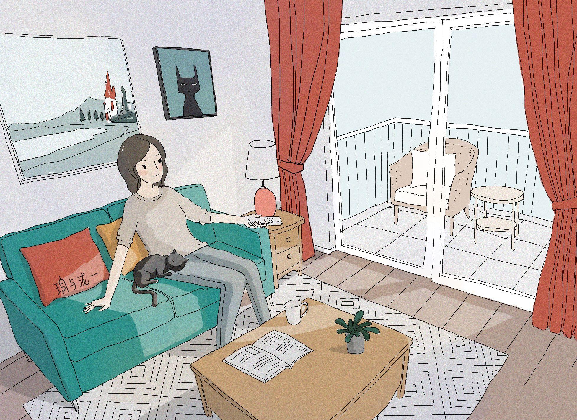 Home Decoration Design Cartoon Illustrations Cartoon