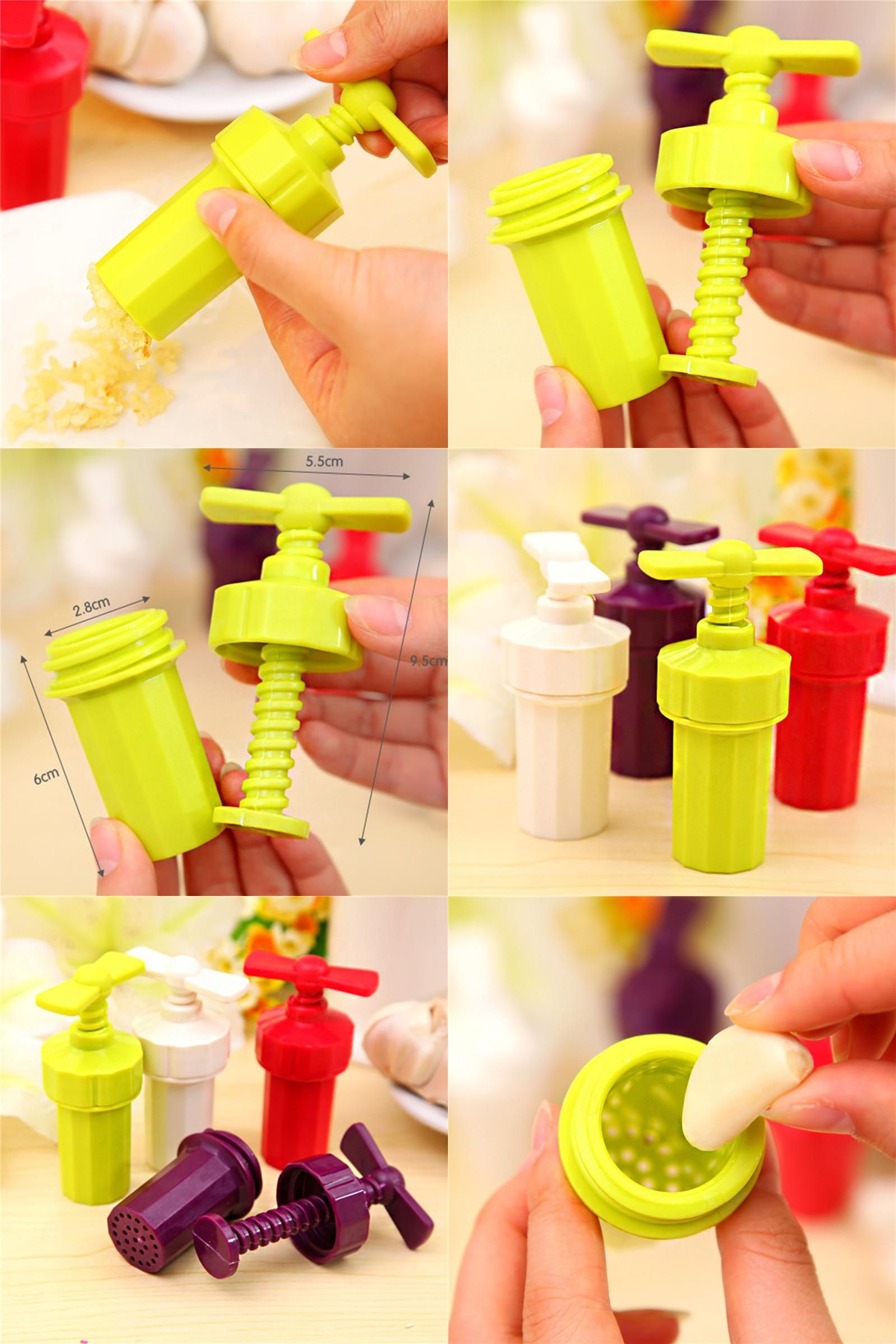 Colorful Kitchen Supplies: [Visit To Buy] ABS Garlic Presses Onion Fruit Vegetable