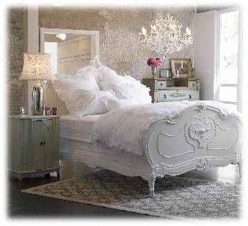 Shabby chic decor-so pretty! I want my bedroom done like this!