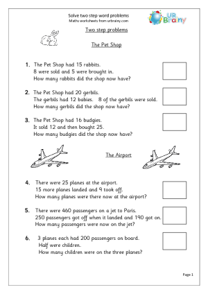 Ccss 2 Oa 1 Worksheets Addition And Subtraction Word Problems | math ...