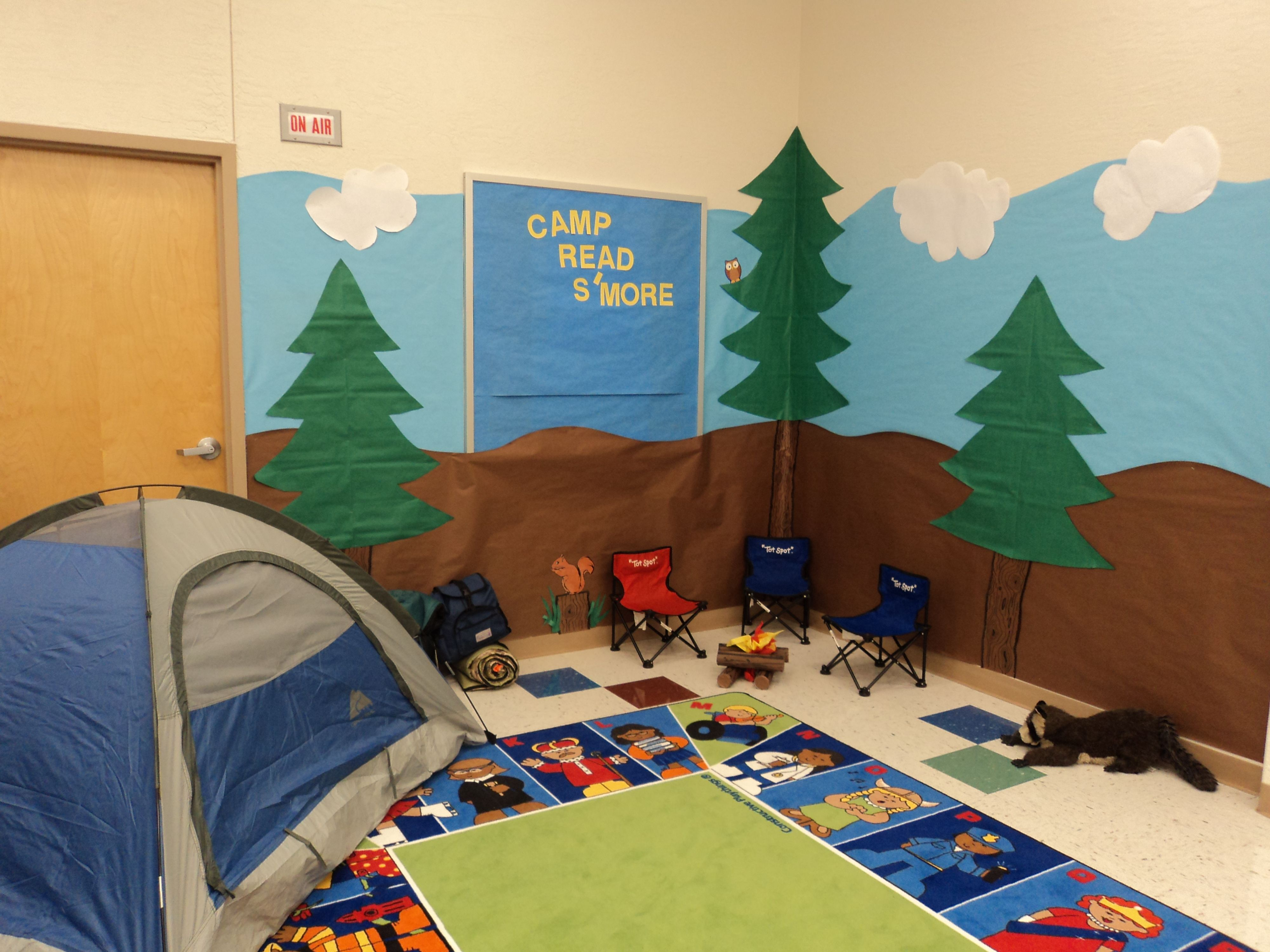 Summer Themed Classroom Decorations : Summer camp on pinterest camping wall murals and