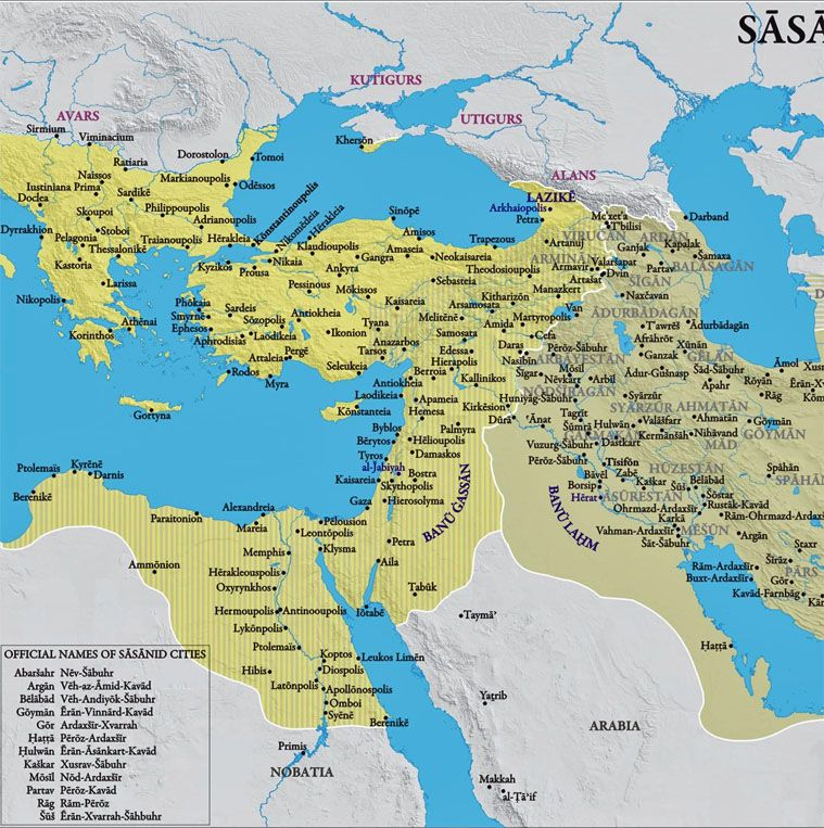 Persian Empire: Iran Politics Club: Iran Historical Maps 6: Sassanid
