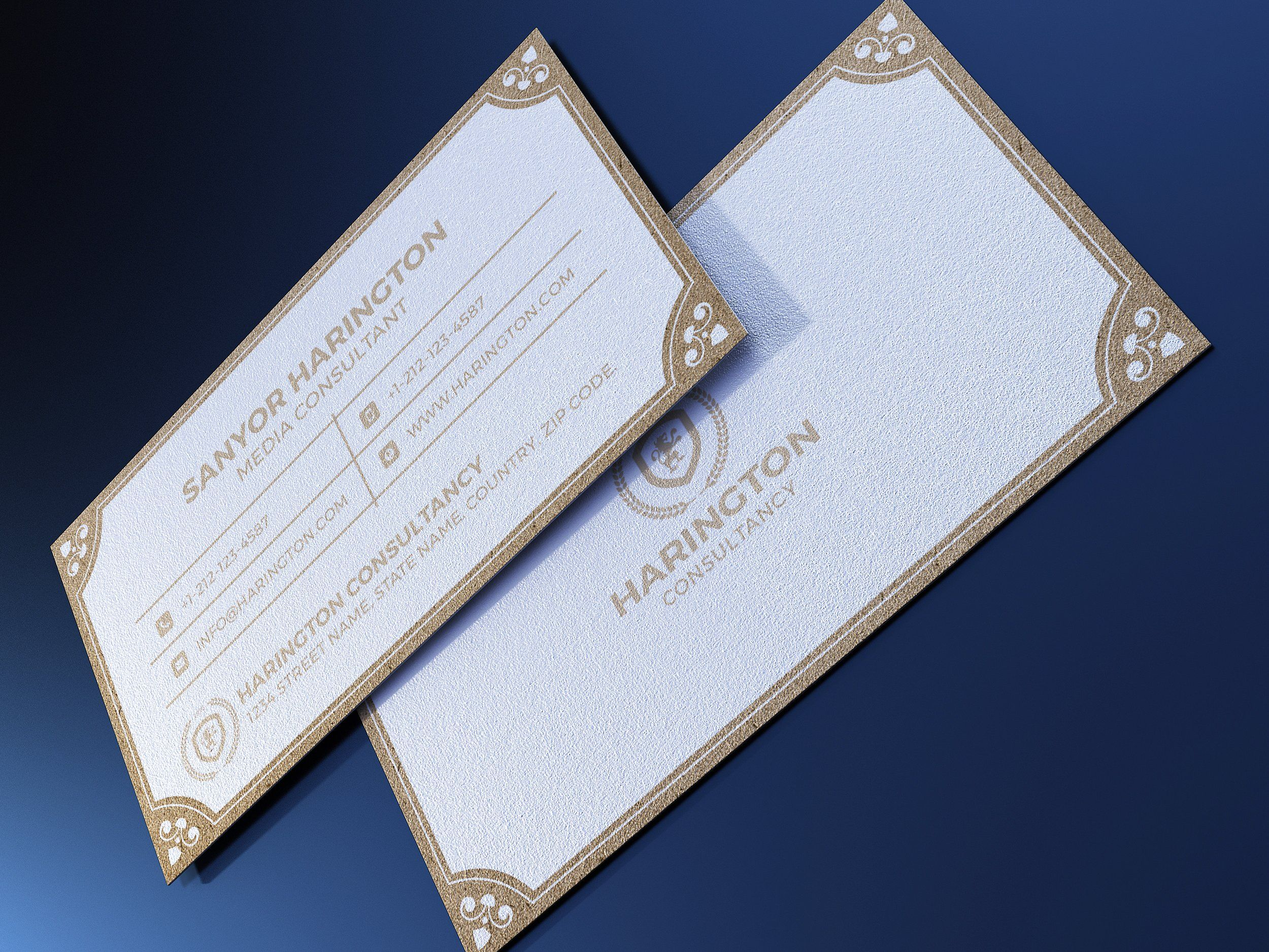 kraft paper business card bundle  business card photoshop