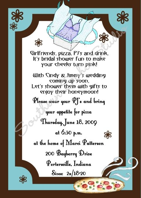 Pajama Party Lingerie Party Invitation PJ Party Linger Party – Lingerie Party Invite