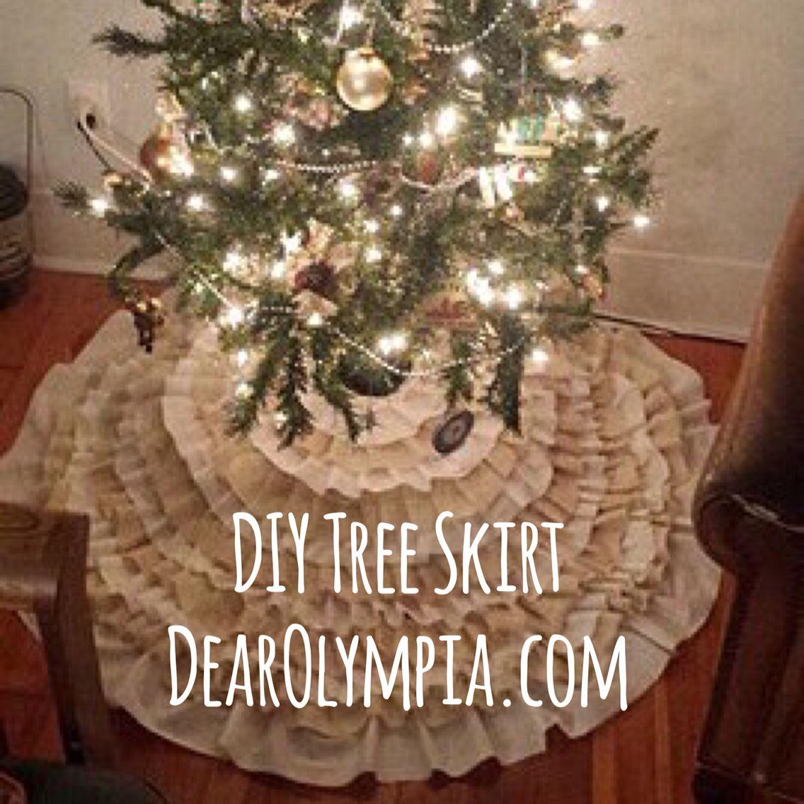 rustic shabby chic christmas tree skirt diy rustic christmas tree rh pinterest com
