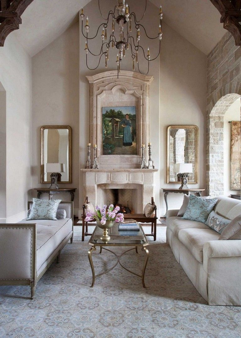 29 Beautiful French Style Living Room Design Ideas That Every
