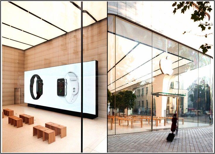 L'iconica architettura dei principali negozi Apple del