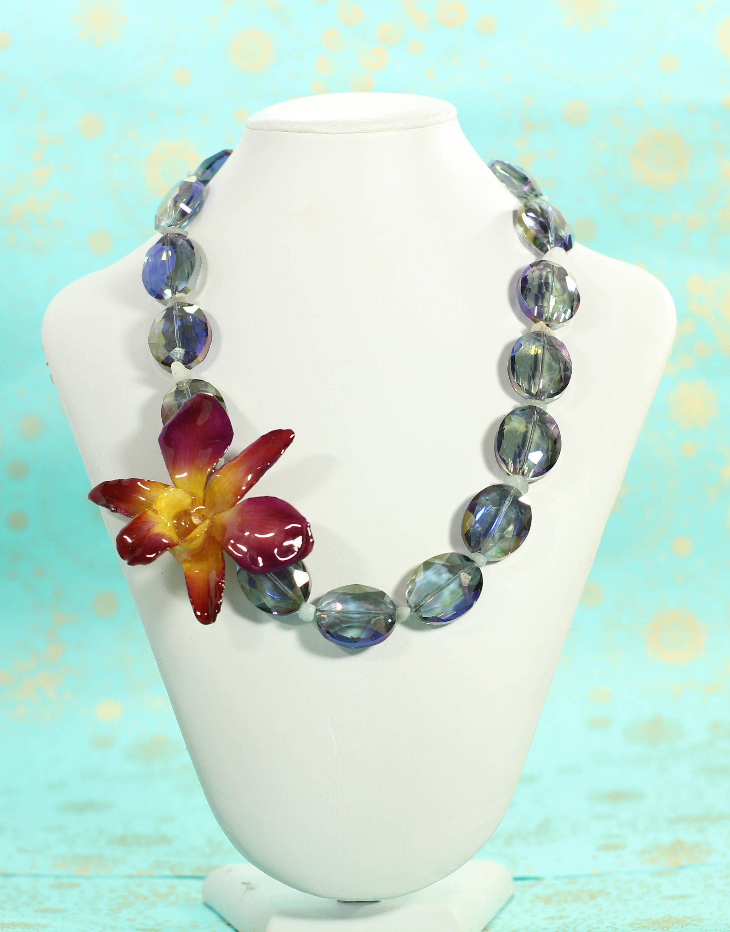Orchid Flower Jewelry Real Orchid Necklace Handmade Gifts With Images Orchid Necklace Handmade Necklaces Flower Jewellery
