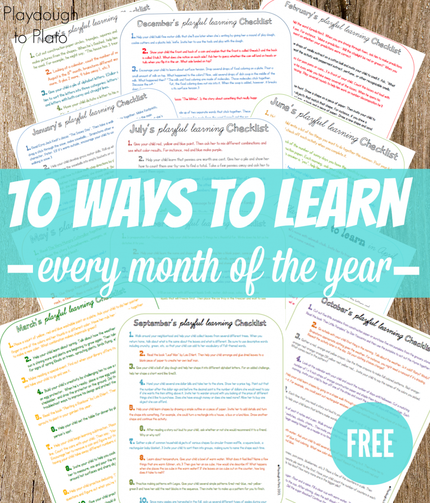 Simple Preschool Activities for Every Month | Math literacy ...