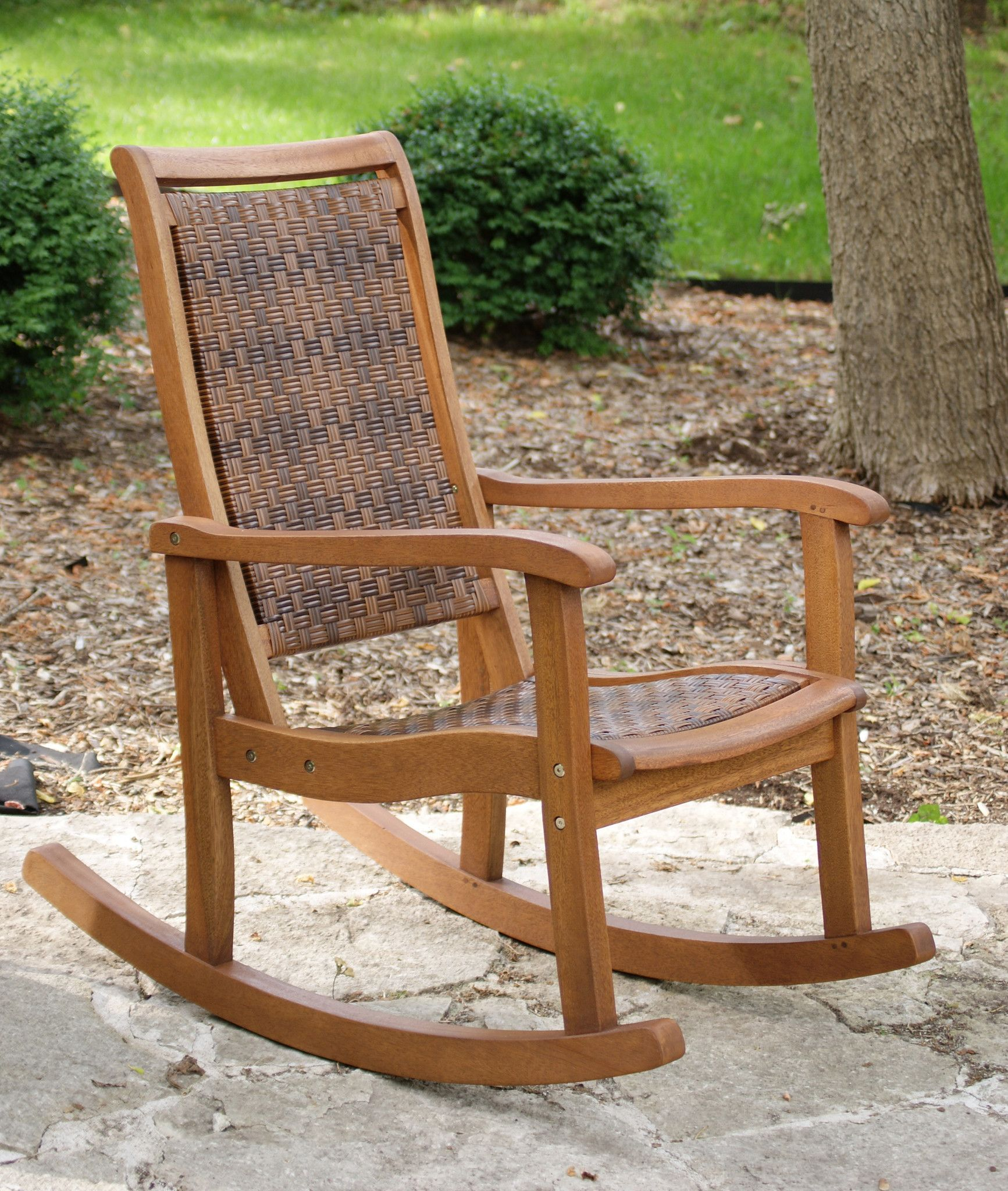 Outdoor Interiors Eucalyptus Rocking Chair | Rocking chairs ...