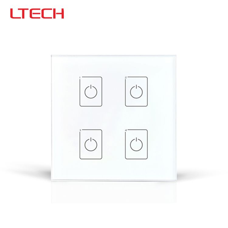 DA4 DALI Wall Mount LED Touch Panel,4CH On/Off Switch Dimmer ...