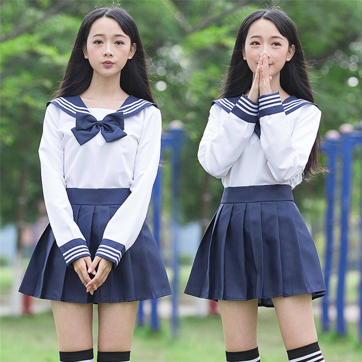 Japanese High School uniform  Navy Sailor JK uniform Lolita dress Costume set