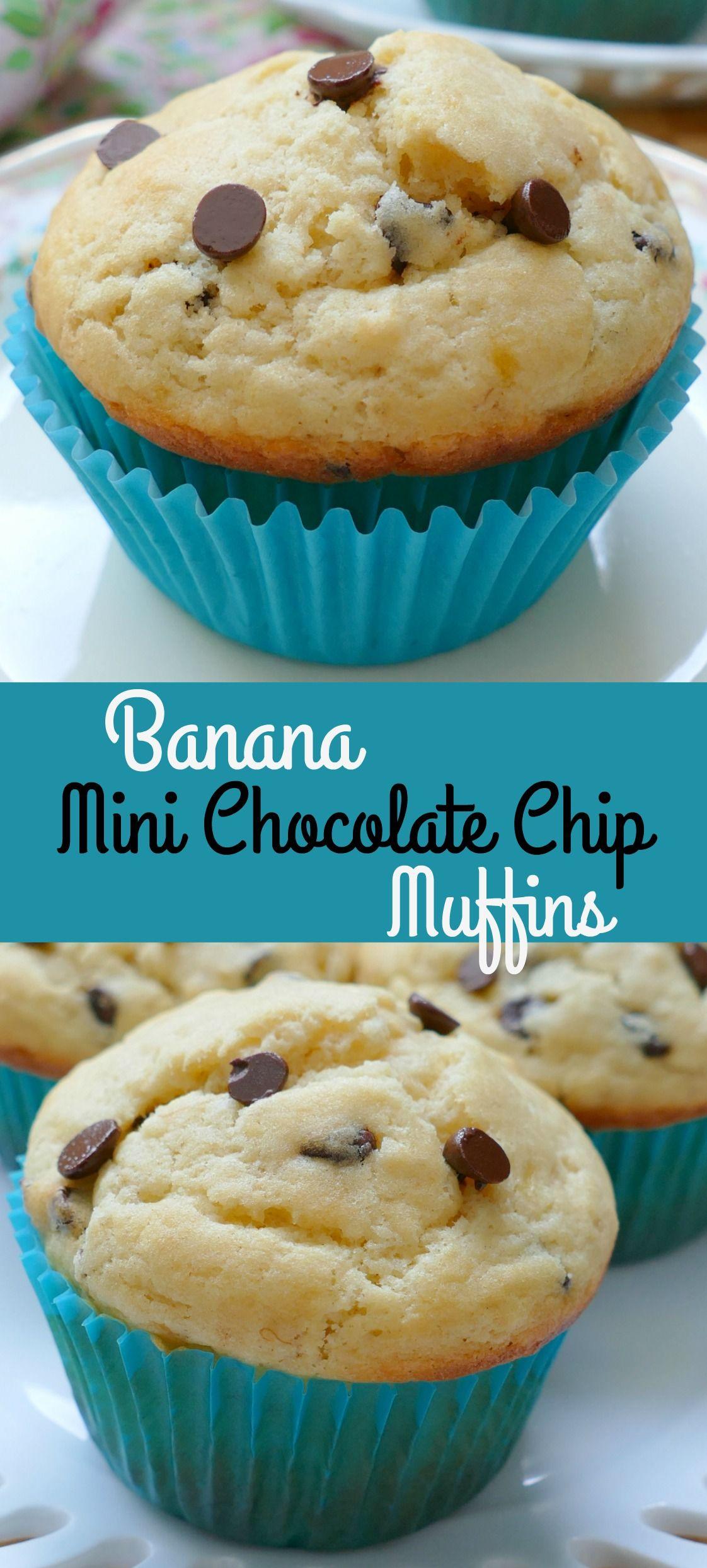 Banana Mini Chocolate Chip Muffins Recipe