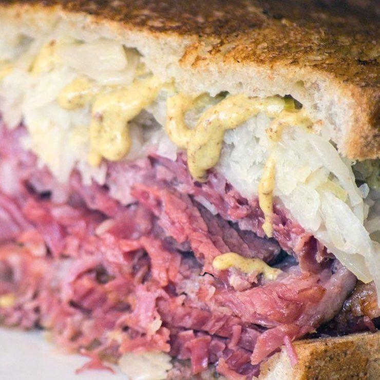 An alternative top30 restaurant guide reuben sandwich