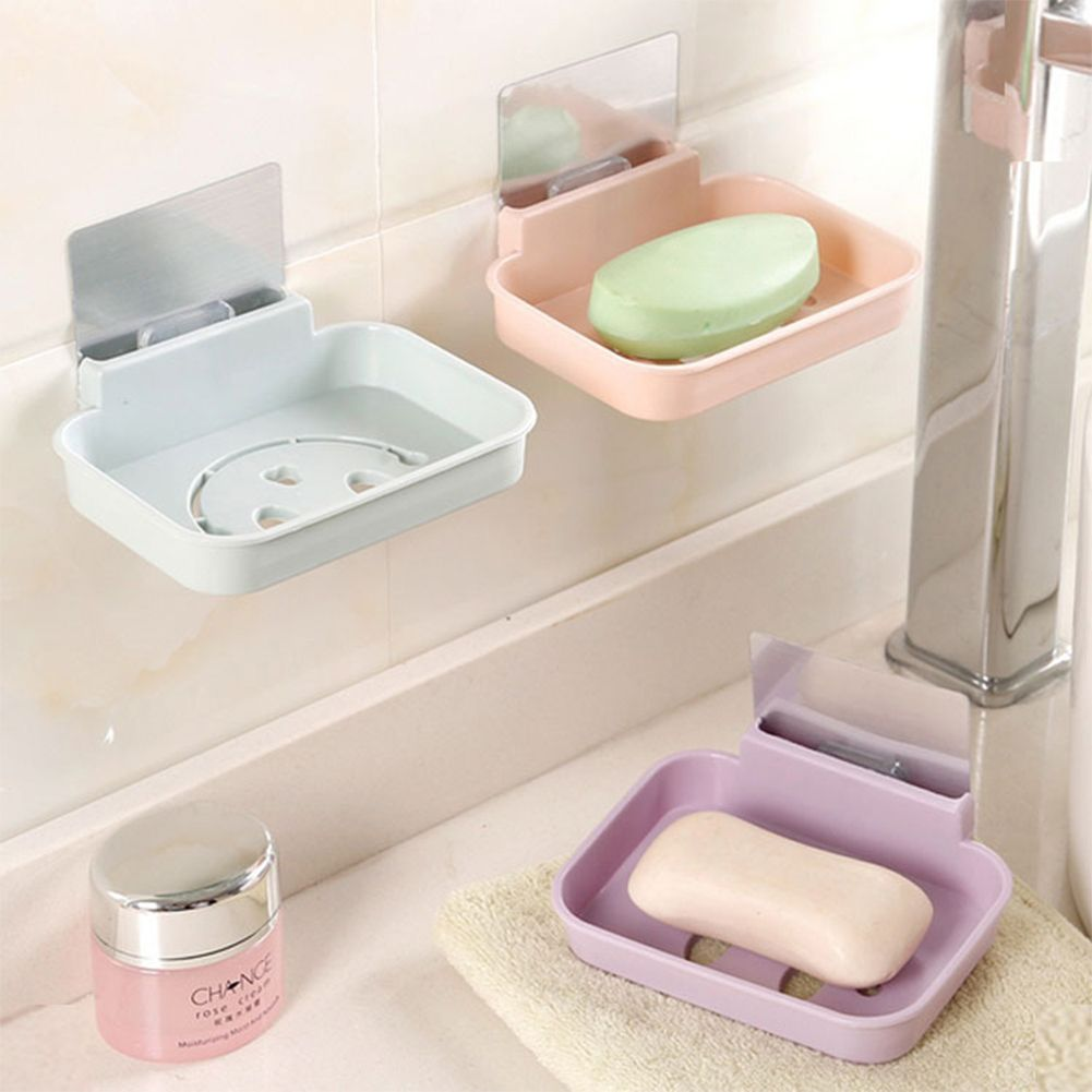 Seamless Pasting Wall Mounted Hollow Smile Face Soap Box Holder