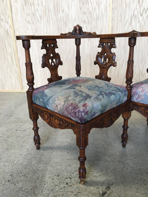 Strange Italian Hand Carved Tete Tete Bench Loveseat In 2019 Theyellowbook Wood Chair Design Ideas Theyellowbookinfo