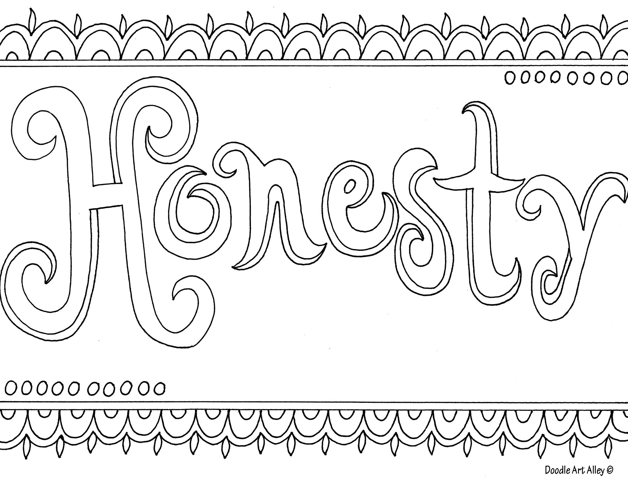 Honesty Coloring Page Free Printable Coloring Pages Printable