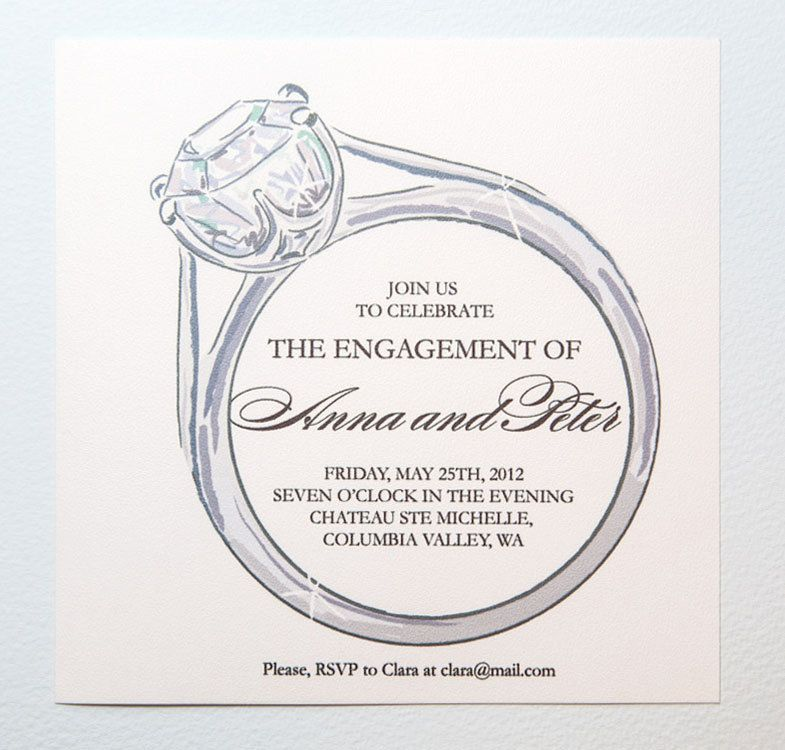 Engagement Party Invitation Editable Template Diamond Ring Etsy Free Engagement Party Invitations Templates Engagement Invitation Template Printable Engagement Party Invitations
