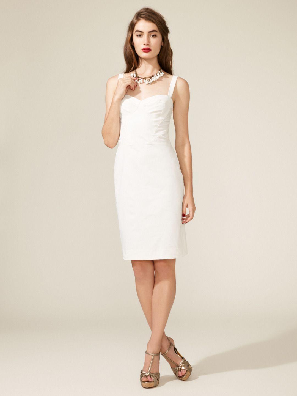 Sheath Shaped Dress By Z Spoke Zac Posen At Gilt Dresses Short Wedding Dress Little White Dresses [ jpg ]