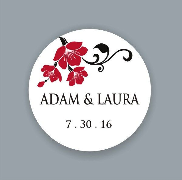 Custom Waterproof Wedding Stickers Personalized Wedding Labels