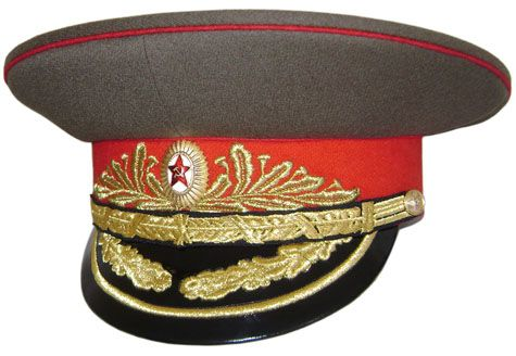 6b0a95cce9a Military Soviet Army field MARSHALL Visor Hat Russian cap