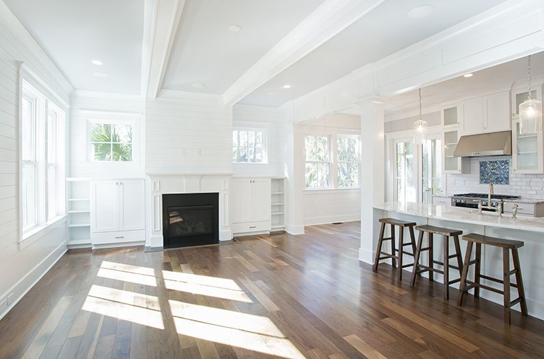 We love the white-beamed ceiling in the great room at 78 Wax Myrtle Court on #Kiawah Island in coastal South Carolina (home available for sale as of 02.21.17) #LuxuryRealEstate #LuxuryHomes | Kiawah Island Real Estate