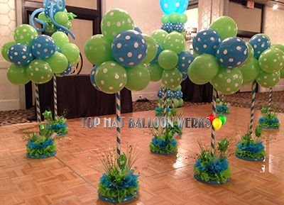Ice Cream Cone Centerpiece Balloons Dragon Baby Shower