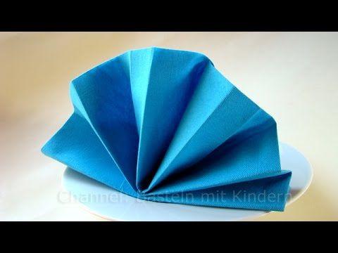 Servietten falten Fächer - Einfache Tischdeko falten - Anleitung - z.B. Firmung & Kommunion #serviettenfalteneinfach
