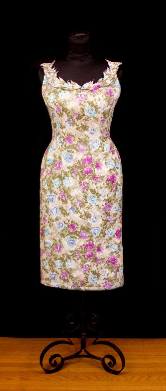 1950s Dress // Mr. Blackwell Designer Floral by GarbOhVintage