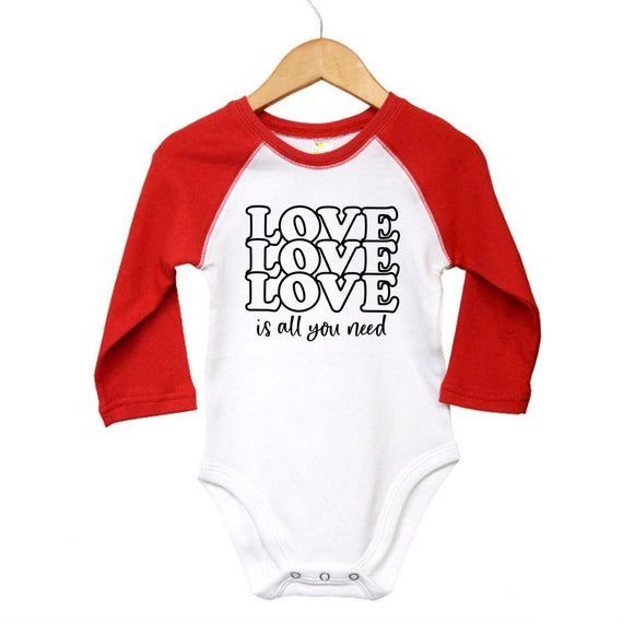 Valentines Bodysuit Red Raglan Long Sleeve Baby Outfit Gender Neutral Baby Gift Love is all you Need  Valentines Bodysuit Red Raglan Long Sleeve Baby Outfit Gender Neutral Baby Gift Love is all you Nee #Baby #Bodysuit #gender #Gift #long #Love #neutral #Outfit #raglan #Red #sleeve #Valentines