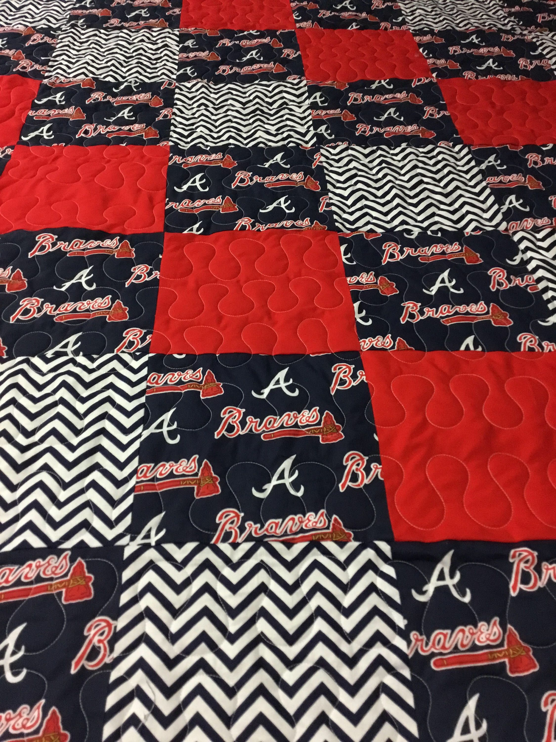 A Personal Favorite From My Etsy Shop Https Www Etsy Com Listing 530345282 Atlanta Braves Quilt Baseball Quilt Quilts Atlanta Braves