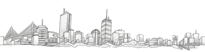 Boston Skyline Boston Skyline Tattoo Boston Skyline Skyline Drawing