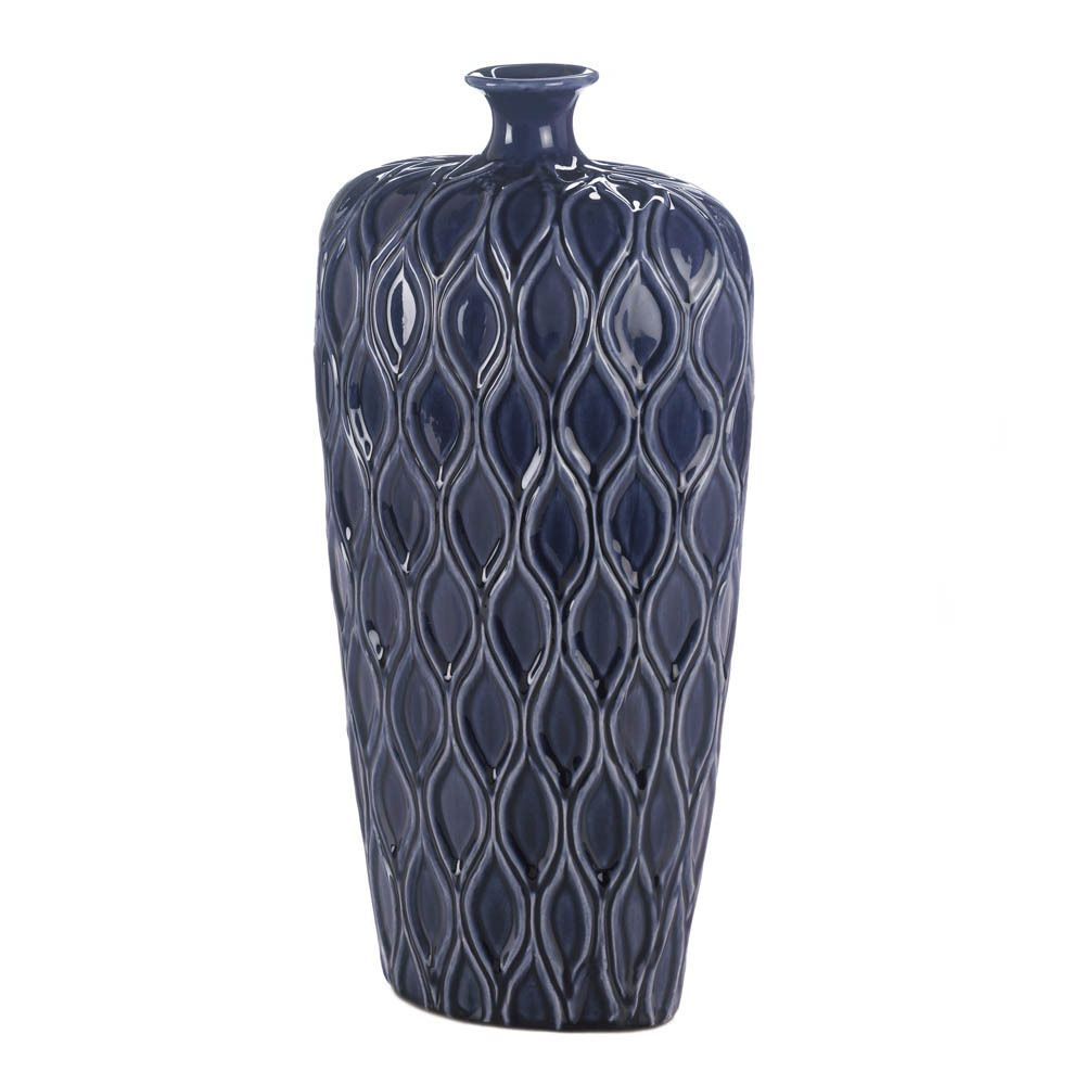 Large ceramic navy dark blue moroccan geometric 17 tall textured large ceramic navy blue morrocan geometric 17 tall textured pot floor vase moroccan reviewsmspy