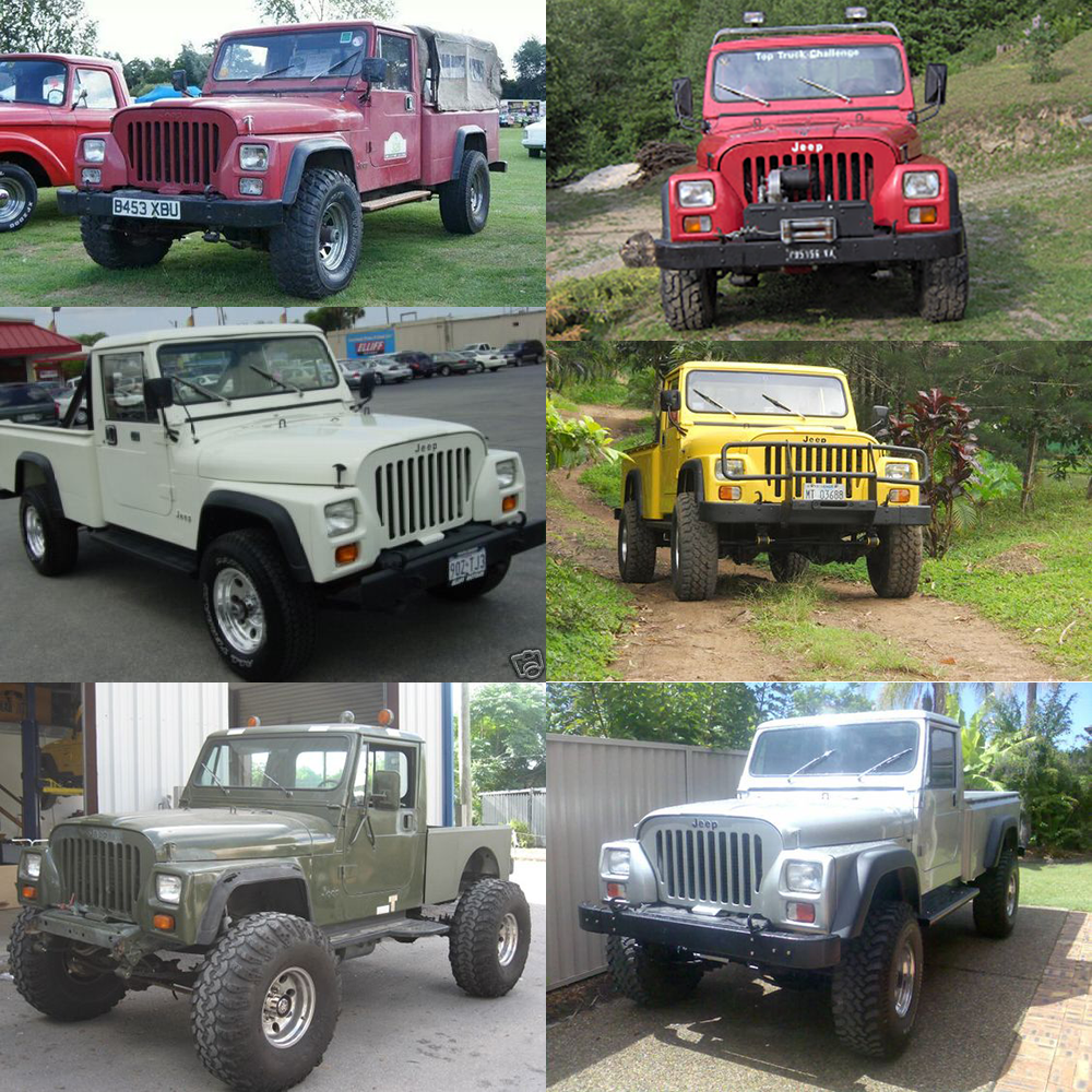 Cj10 One Of The Rarest Jeeps In The Us For Australia And Usaf Only Cj Front And A Pickup Rear Bed Cj10 Square Headlig Nissan Diesel Red Jeep Transfer Case