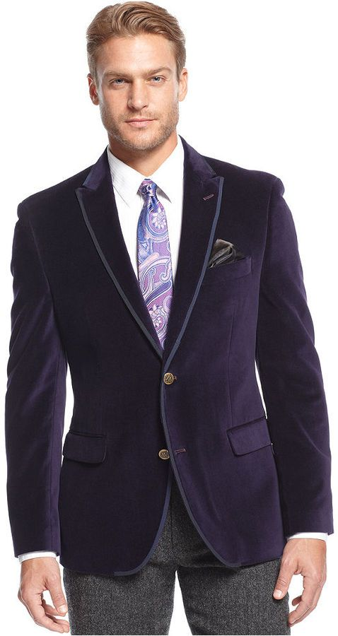 $174, Tallia Velvet Slim Fit Sport Coat Web Id 1664258. Sold by ...