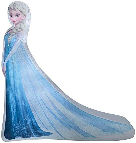 Gemmy Airblown Inflatable Photorealistic Princess Elsa Fr - frozen halloween decorations