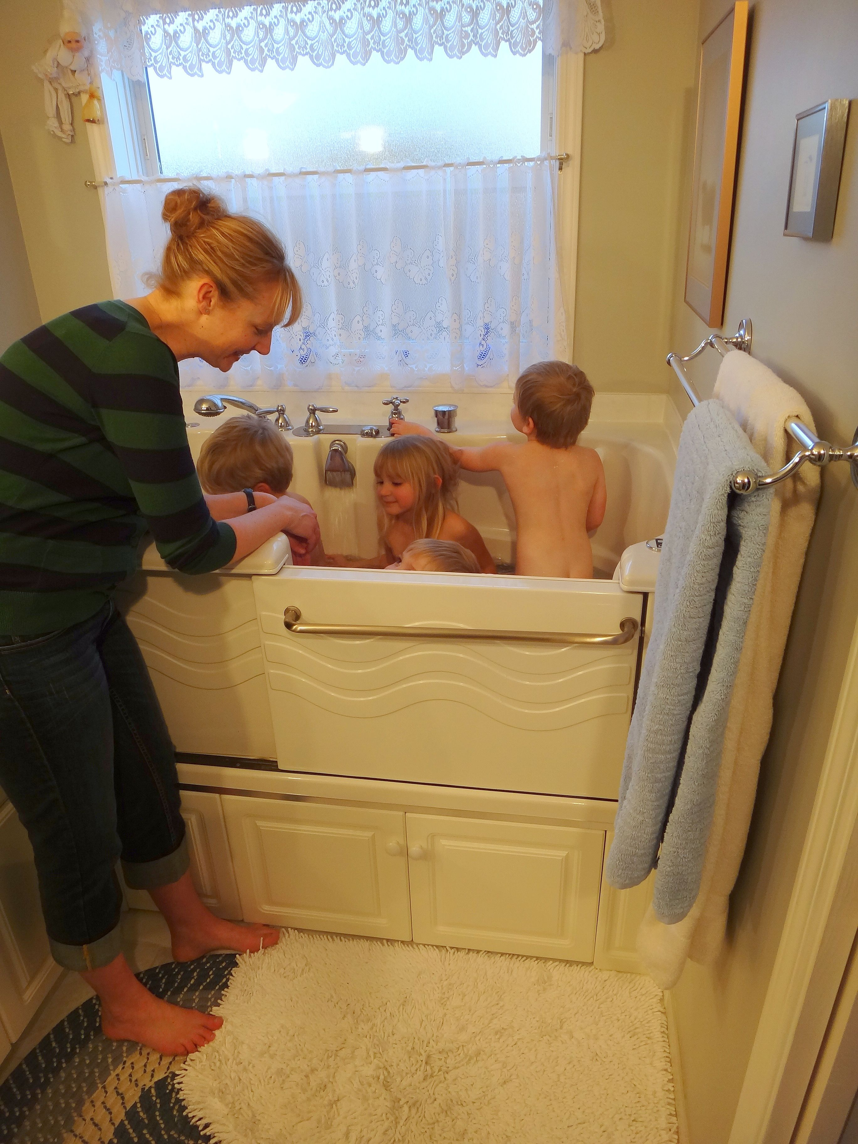 Family Friendly - Slide-In Accessible Tub Call us at (866) 404-8827 ...