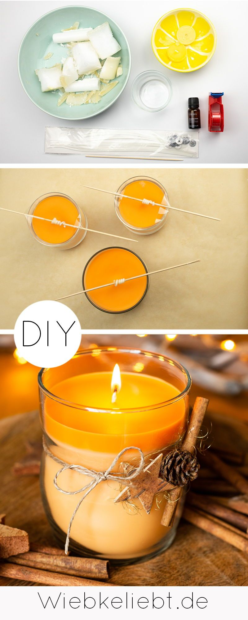 DIY Duftkerzen im Glas selber machen - Geschenkidee zu Weihnachten | DIY Blog | Do-it-yourself Anleitungen zum Selbermachen | Wiebkeliebt